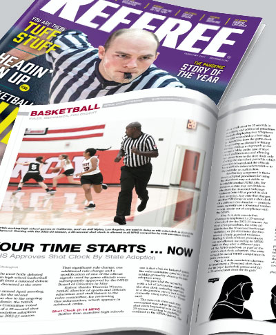 Referee Magazine - Subscribe Today
