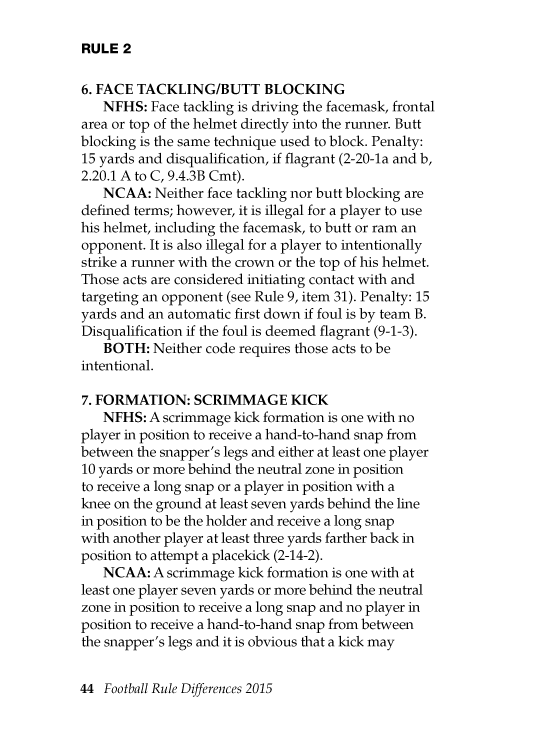 2015-Football-Rule-Differences--NFHS-&-NCAA-Rules-Compared-Page-08