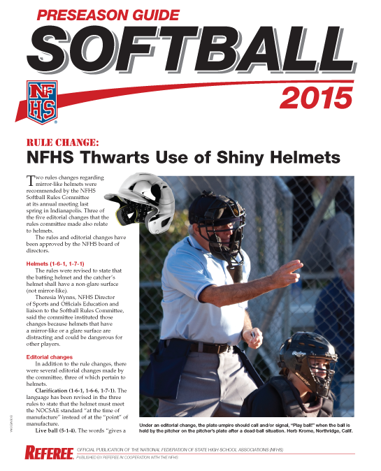 2015-NFHS-Softball-Preseason-Guide-Page00