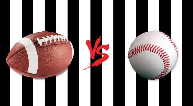 Football-Vs-Baseball