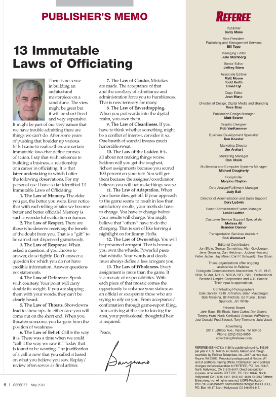 13-Immutable-Laws-of-Officiating