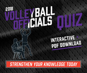 2018 Volleyball Officials Quiz (300px x 250px)