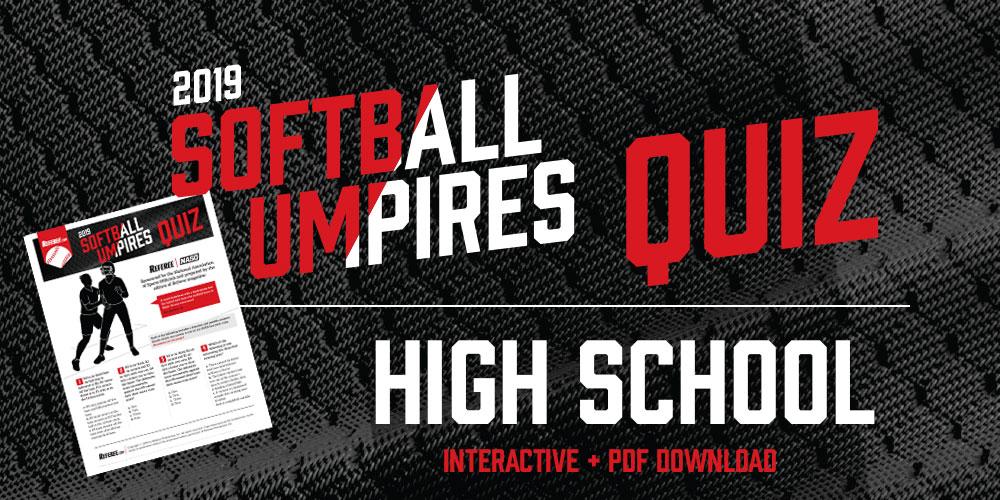 Softball Umpires Quiz 2019 - Referee com