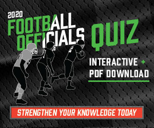 Football 2020 – 2020 Football Officials Quiz (300px x 250px)