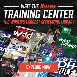 Referee Training Center AD – June 2020 Sidebar (300px x 288px)