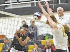 volleyball four hits or first contact is a difficult call